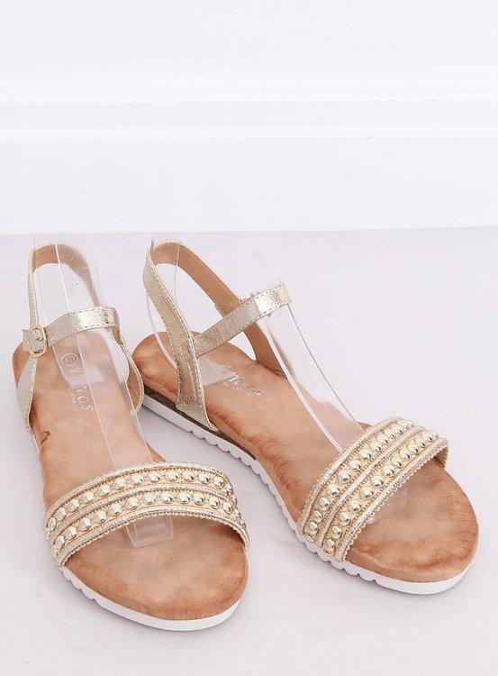 Sandałki damskie złote HT-68 GOLD