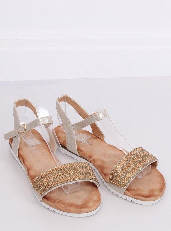 Sandałki damskie złote HT-69 GOLD