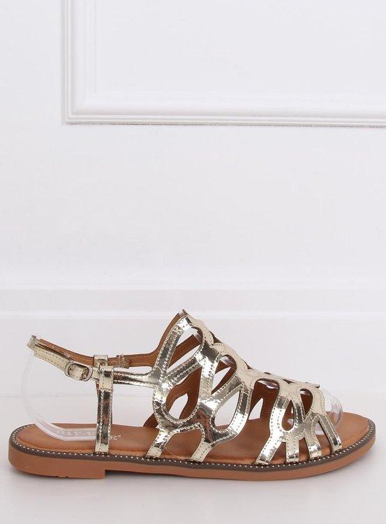 Sandałki damskie złote JY52 GOLD
