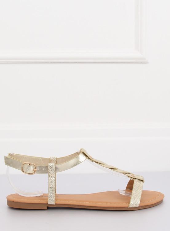 Sandałki damskie złote S060071 GOLD