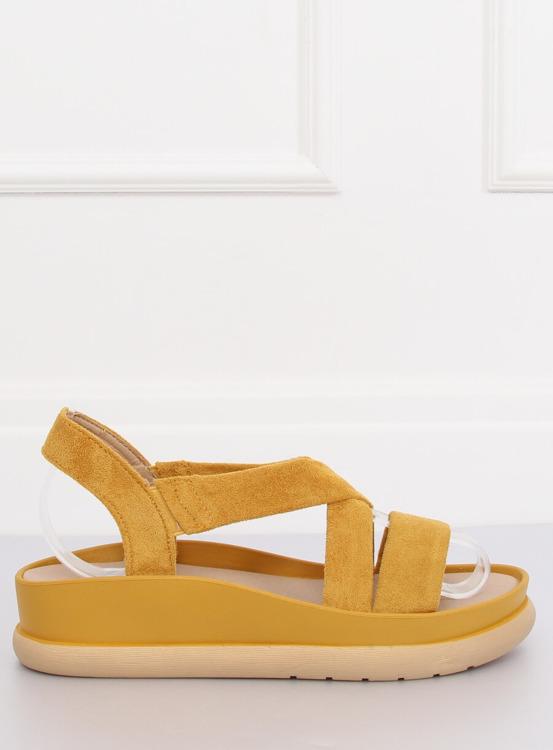 Sandałki damskie żółte G-199 YELLOW