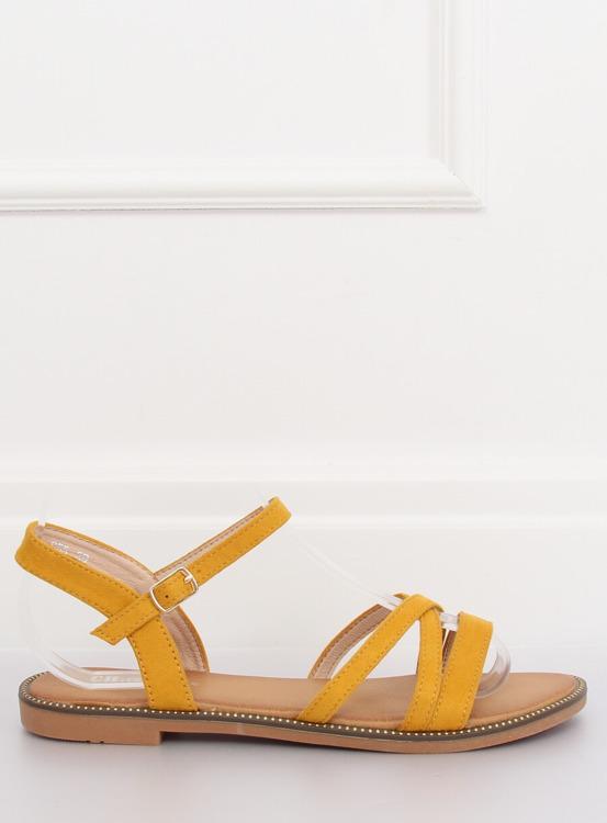 Sandałki damskie żółte S55 YELLOW