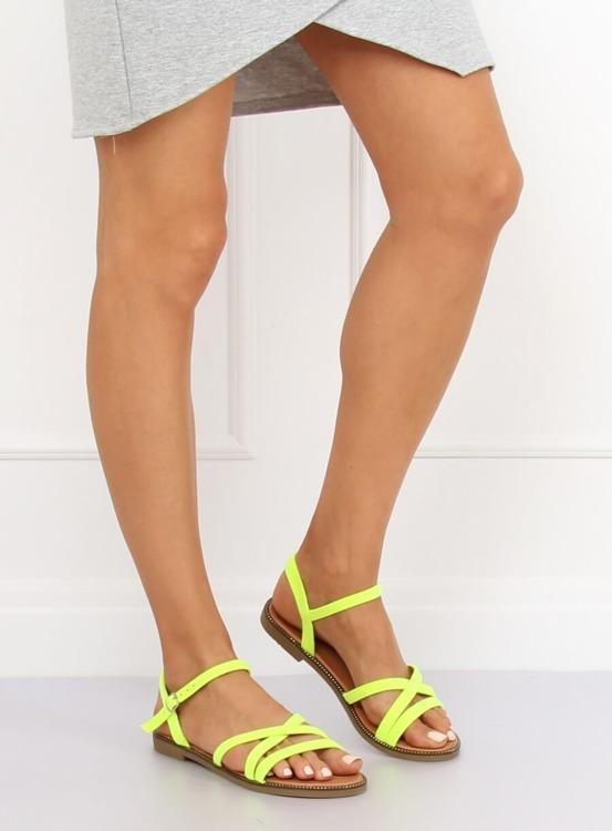 Sandałki damskie żółte WL255 YELLOW