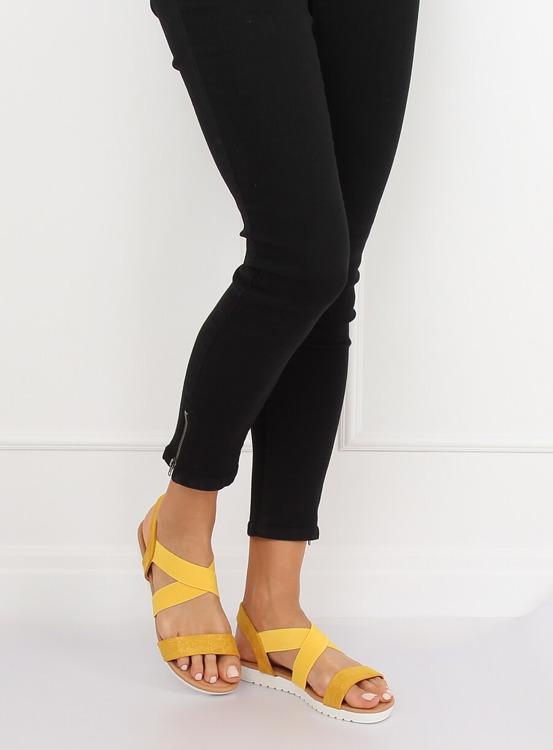 Sandałki damskie żółte X565 YELLOW