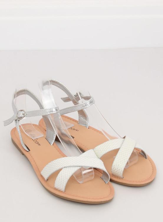 Sandałki damskiei srebrne WL282 SILVER