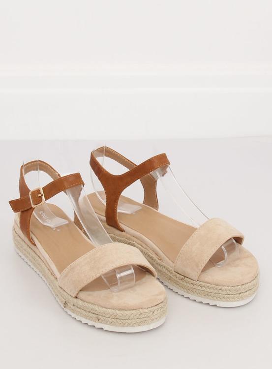 Sandałki espadryle beżowe Y-8224 BEIGE