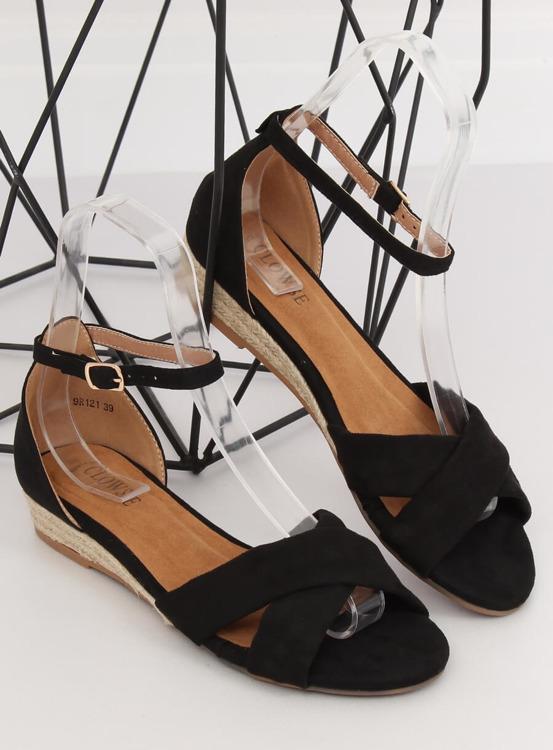 Sandałki espadryle czarne 9R121 BLACK