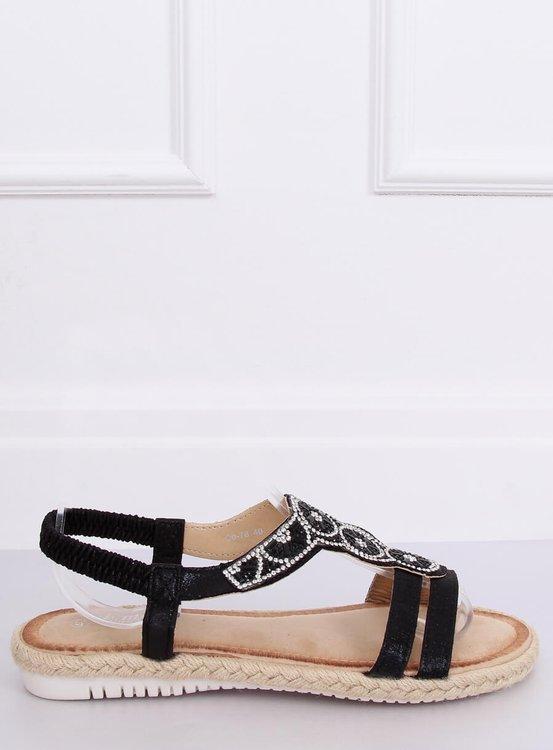 Sandałki espadryle czarne CO-78 BLACK