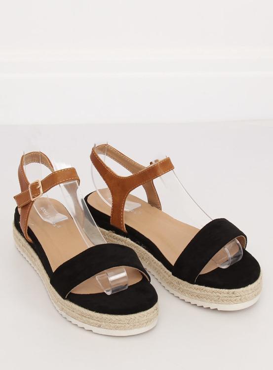 Sandałki espadryle czarne Y-8224 BLACK