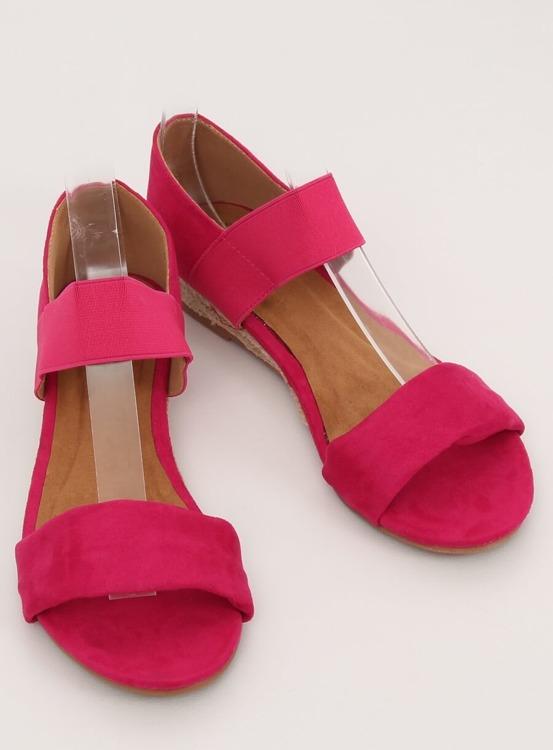 Sandałki espadryle fuksjowe 9R71 ROSE