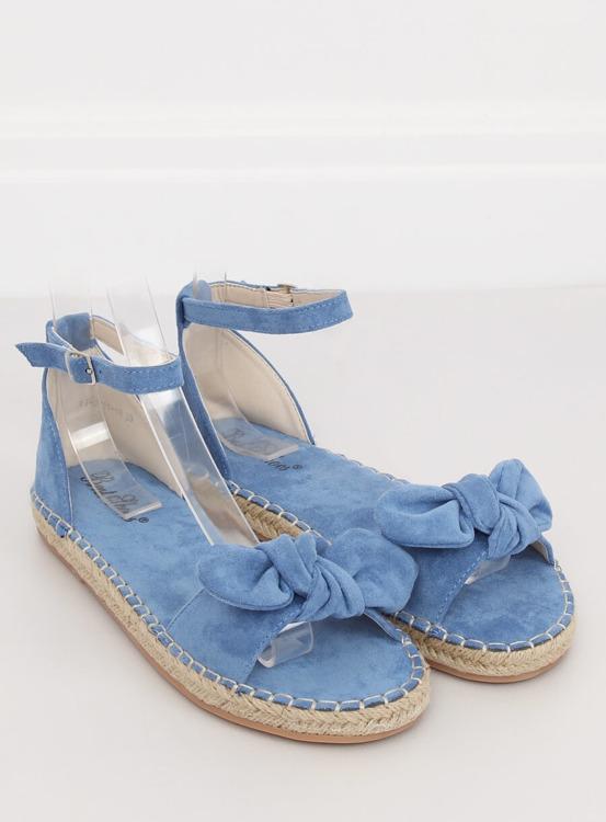 Sandałki espadryle niebieskie YJ-2M11-18 BLUE