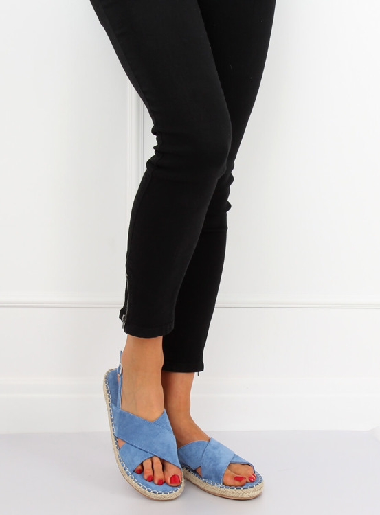 Sandałki espadryle niebieskie YJ-2M12 BLUE
