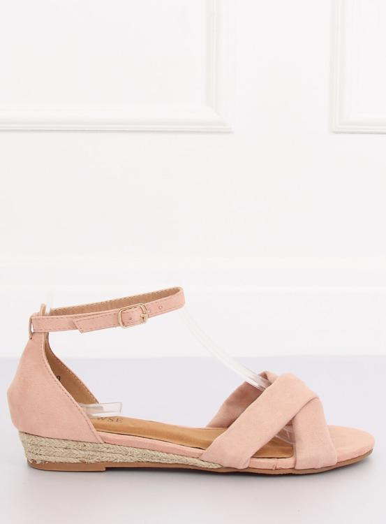 Sandałki espadryle różowe 9R121 PINK