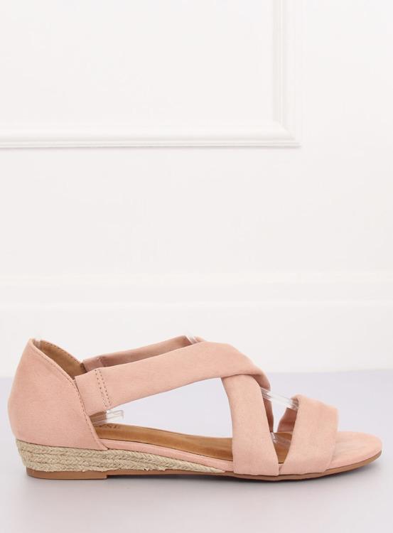 Sandałki espadryle różowe 9R72 PINK