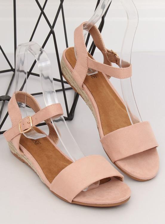Sandałki espadryle różówe 9R73 PINK
