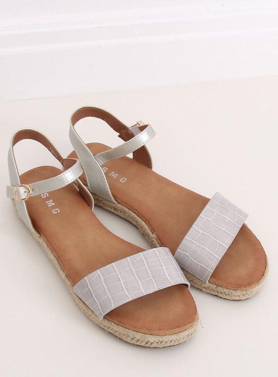 Sandałki espadryle szare WH939 GREY