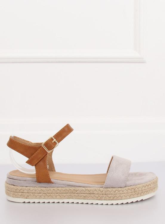 Sandałki espadryle szare Y-8224 GREY