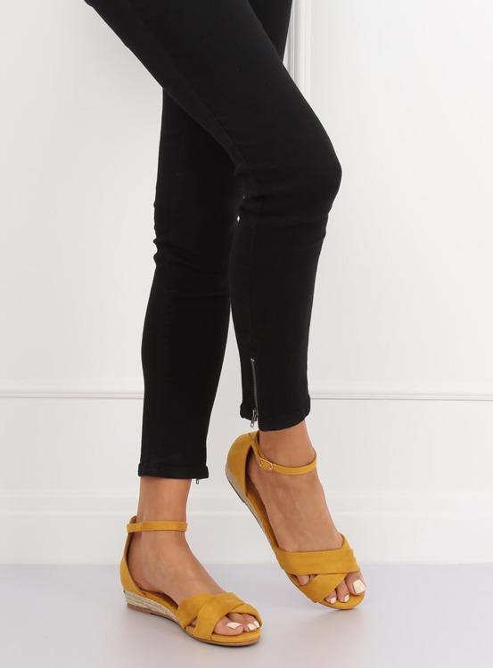 Sandałki espadryle żółte 9R121 YELLOW