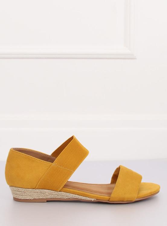 Sandałki espadryle żółte 9R71 YELLOW