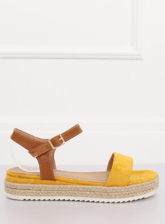 Sandałki espadryle żółte  Y-8224 YELLOW