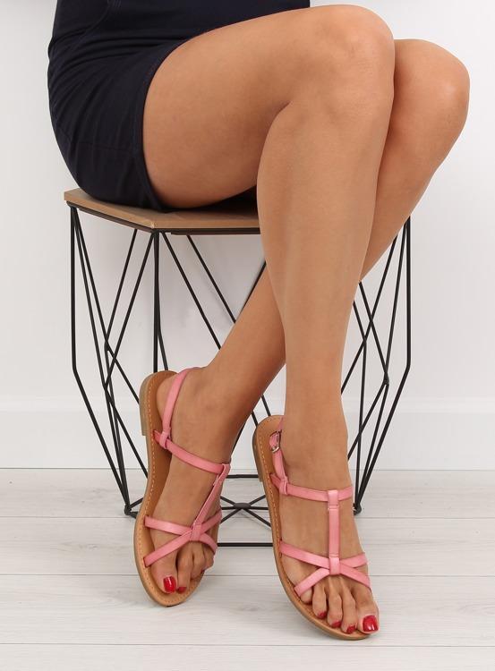 Sandałki fluorescencyjne hit lata różowe 5132 PINK