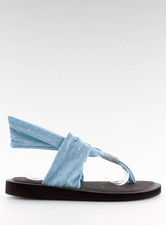 Sandałki japonki bawełniane niebieskie DD81P BLUE