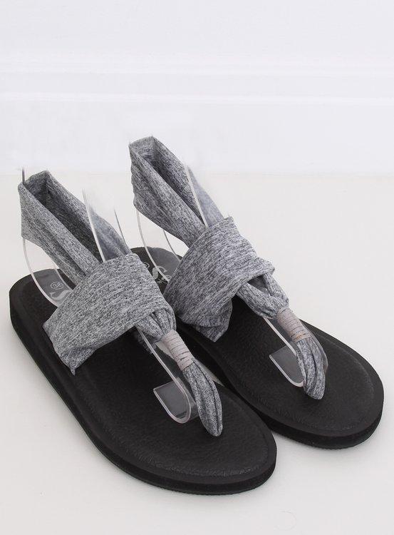 Sandałki japonki bawełniane szare DD81P GREY