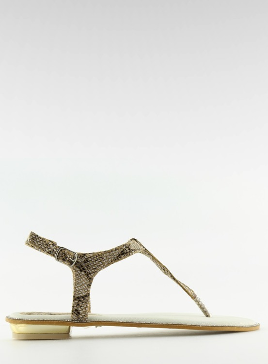Sandałki japonki beżowe LP602 KHAKI