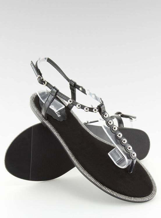 Sandałki japonki czarne 17716 NEGRO