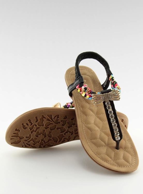 Sandałki japonki czarne D567 BLACK