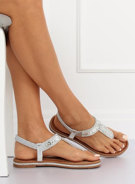 Sandałki japonki srebrne ZY163 SILVER
