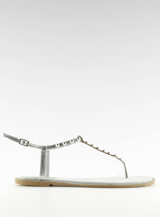 Sandałki japonki szare 17716 GRIGIO