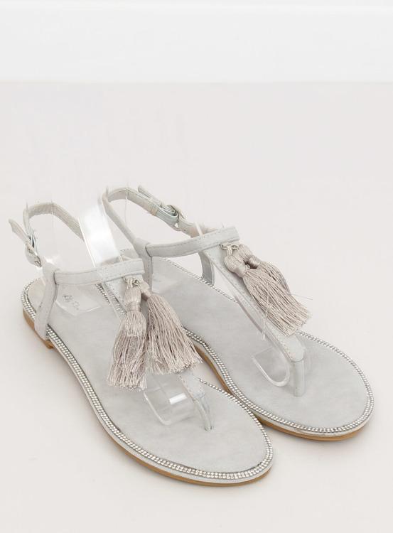 Sandałki japonki szare 7263 GREY