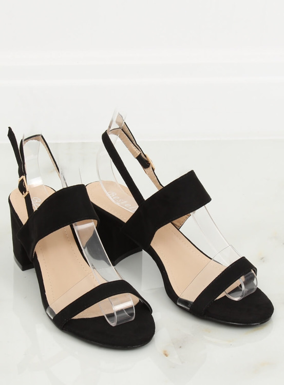 Sandałki na obcasie czarne 660-1/SA-2 BLACK