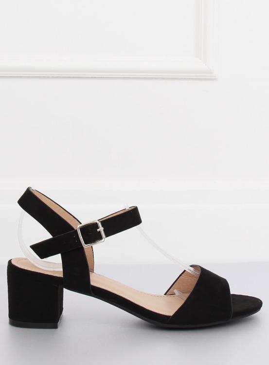 Sandałki na obcasie czarne 8103 BLACK