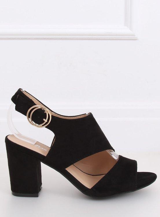 Sandałki na obcasie czarne A8560 BLACK