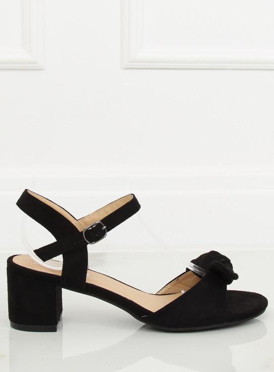 Sandałki na obcasie czarne FH-3M22 BLACK