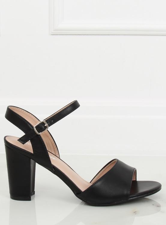 Sandałki na obcasie czarne FZ583 BLACK
