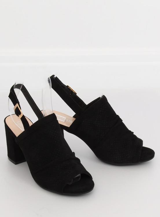 Sandałki na obcasie czarne JM5840N NEGRO