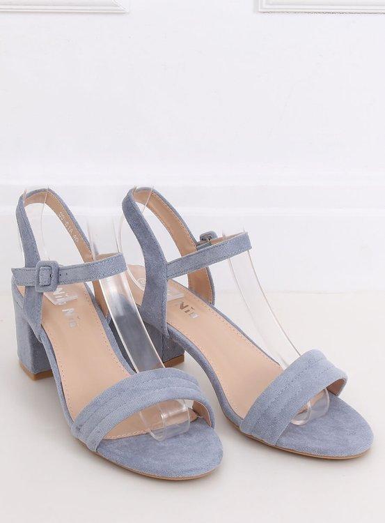 Sandałki na obcasie niebieskie 99-61A BLUE