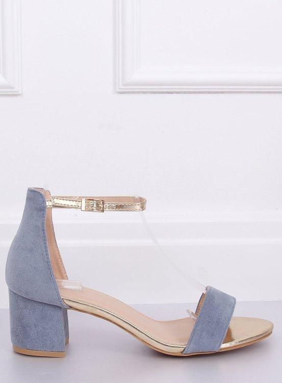 Sandałki na obcasie niebieskie M307P BLUE