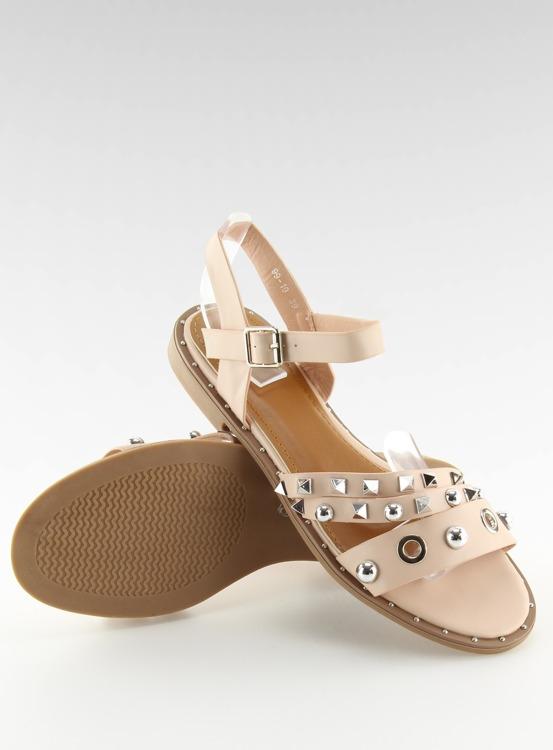 Sandałki na płaskiej podeszwie różowe 99-19 PINK