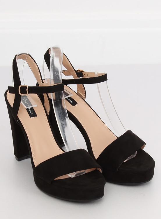 Sandałki na platformie czarne HJ101 BLACK