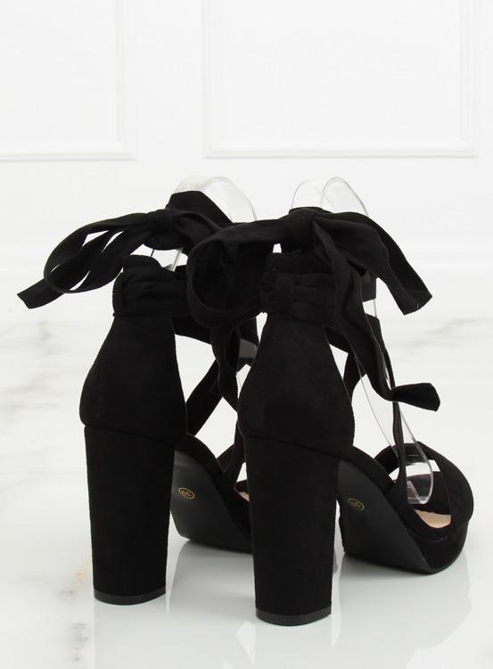 Sandałki na platformie czarne NC805 BLACK