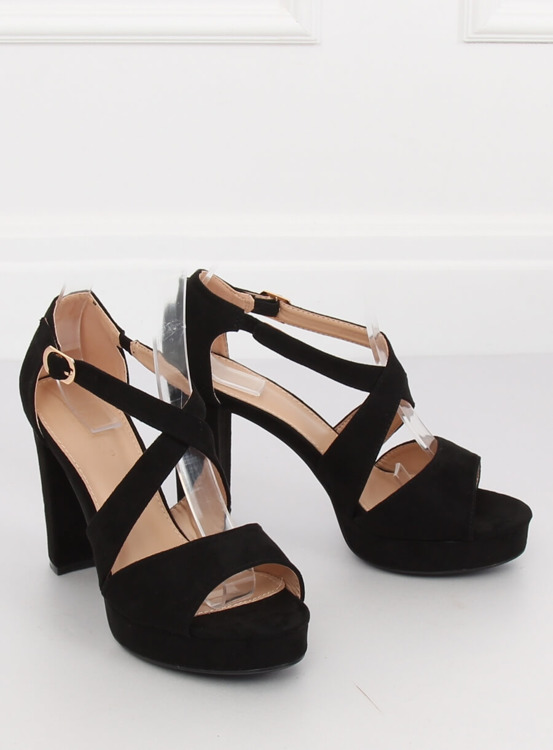 Sandałki na platformie czarne VV-23 BLACK