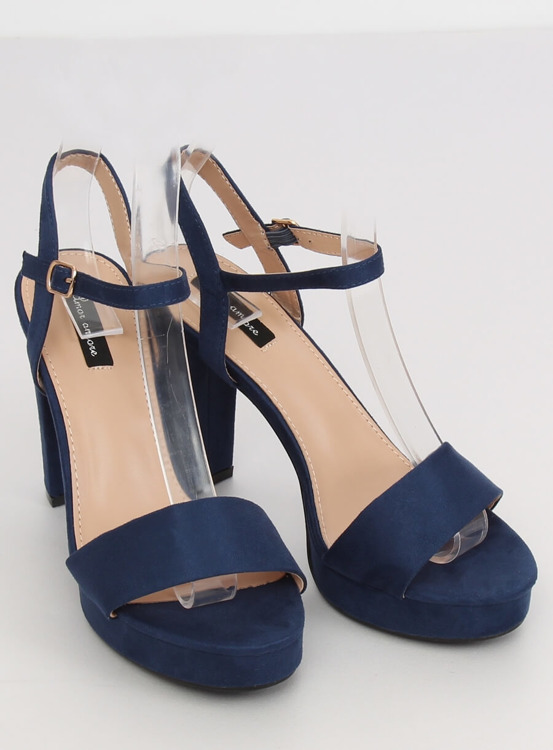 Sandałki na platformie granatowe HJ101 BLUE