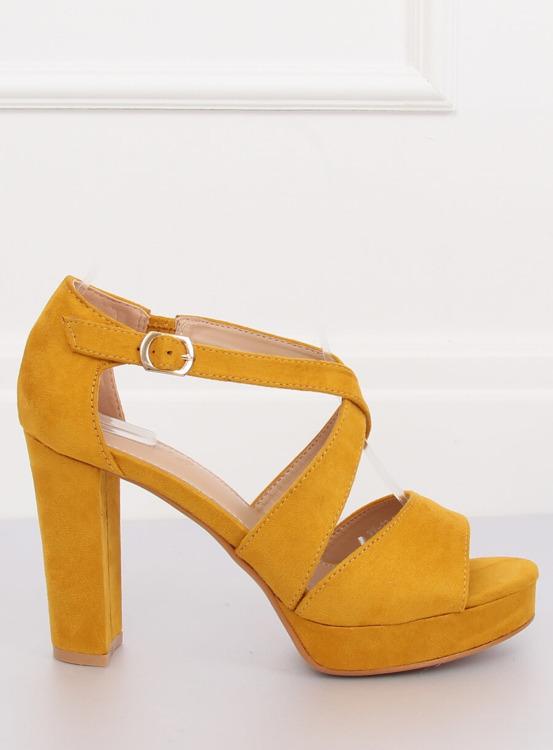 Sandałki na platformie żółte VV-23 YELLOW