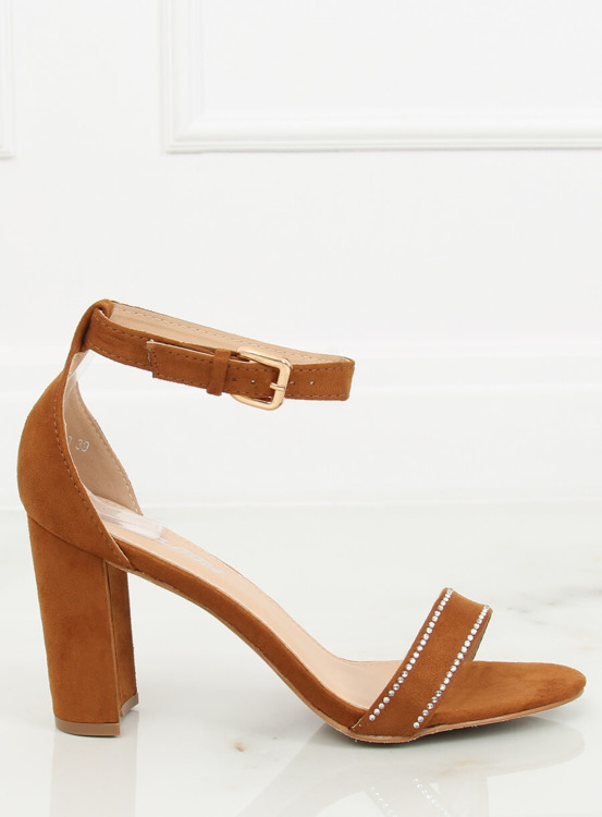 Sandałki na słupku camel A8020 CAMEL