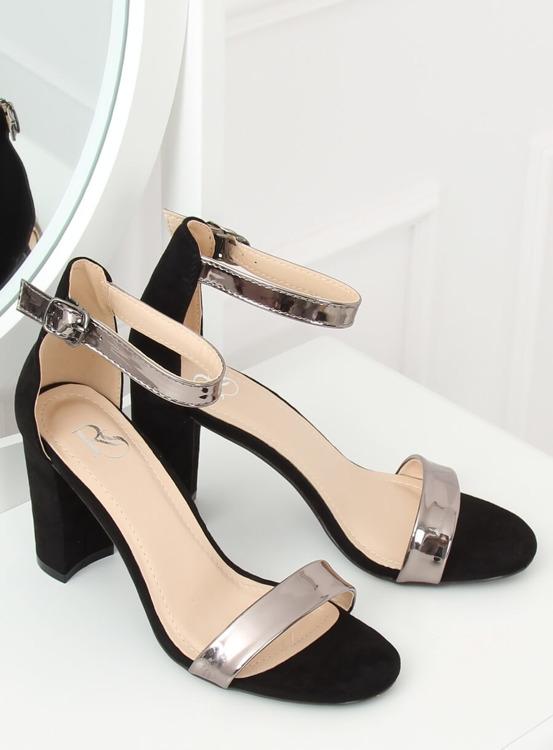 Sandałki na słupku czarne GF-WL-35 BLACK