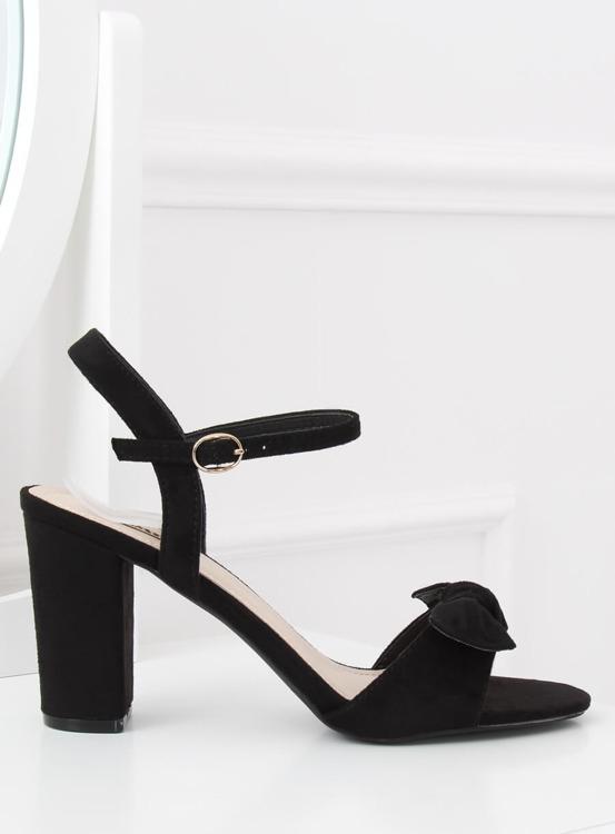 Sandałki na słupku czarne GH1508 BLACK